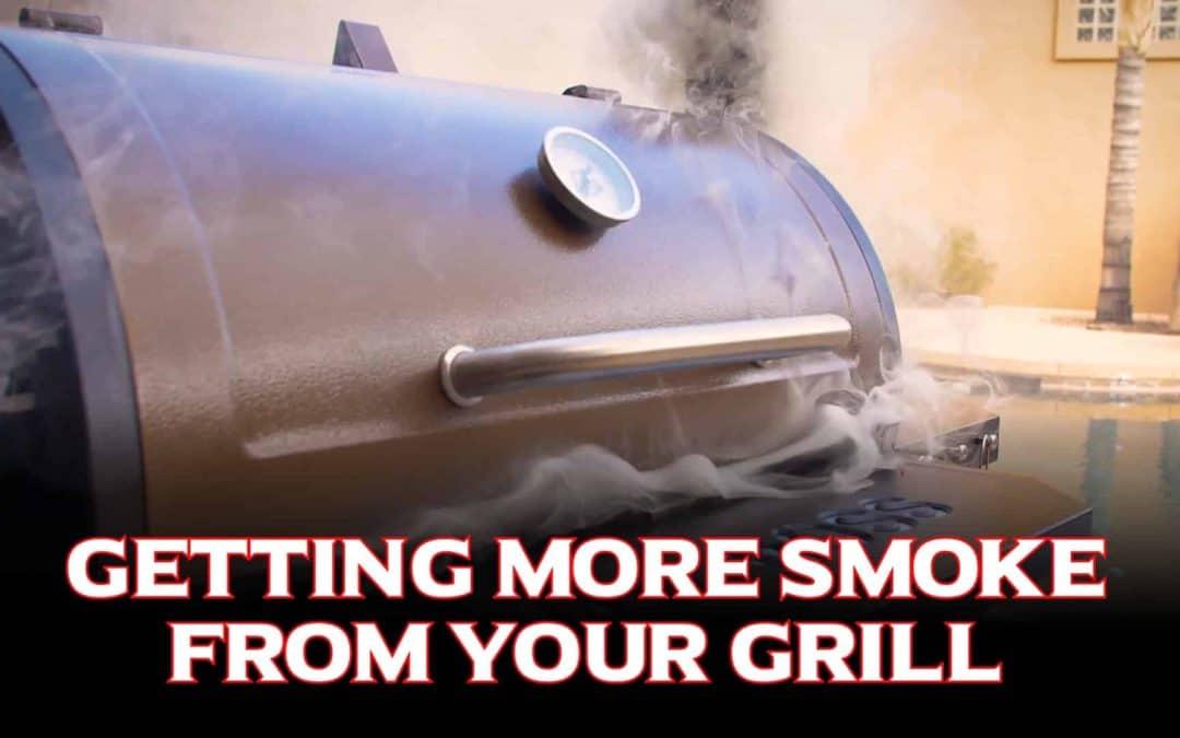 3 Tipps, um mehr Rauch vom Grill zu bekommen